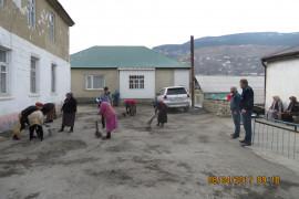В Ахвахском районе состоялся районный субботник, где активное участие принял и ГБУ РД